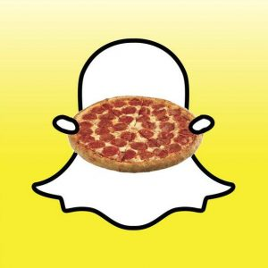 Find pizza with Snapchat